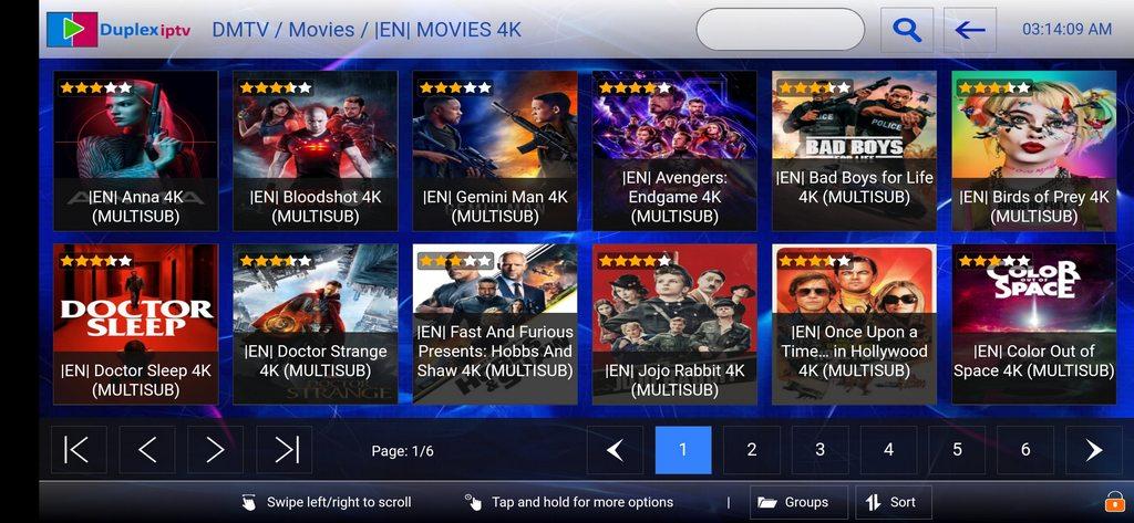 DMTV service movies on duplex